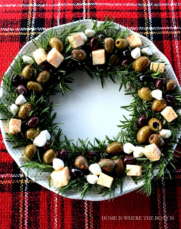 Rosemary Wreath with Olives and Cheese | Home is Where the Boat Is