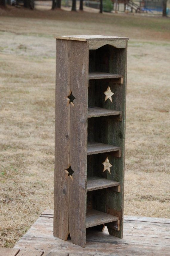 Tall Bookcase Skinny Bookcase. Kitchen Shelf. Thin Bookcase. Recycled Wood  Shelf. Storage Shelf. Wood Furniture. Star Bookcase. Farmhouse - Tall Bookcase Skinny Bookcase. Kitchen Shelf. Thin Bookcase