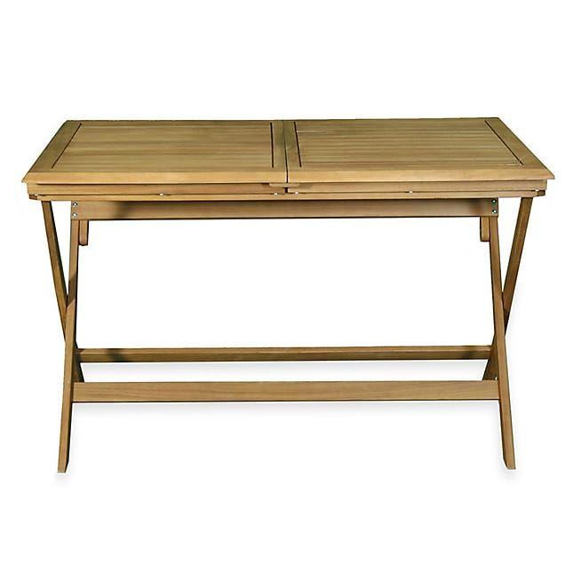 Milana Table de jardin extensible pliante en acacia (6 à 8 ...