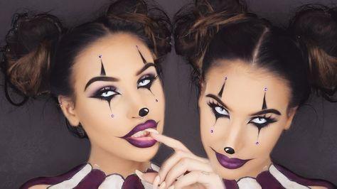 creepy clown girl halloween makeup tutorial halloween. Black Bedroom Furniture Sets. Home Design Ideas