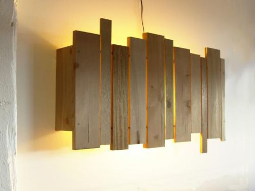 Cantilever And Press Slat Wall Wooden Lamp Wood Lamps