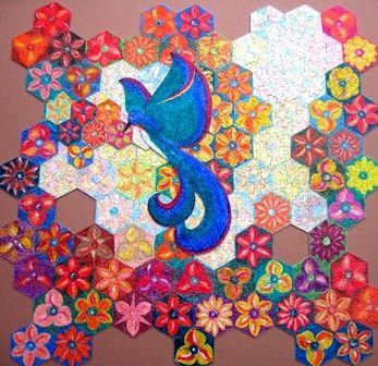 """Puzzle """"O Vôo do Beija-Flor"""" - Posição possível do beija-flor sobre as flores I - Por Antônia Sobral"""