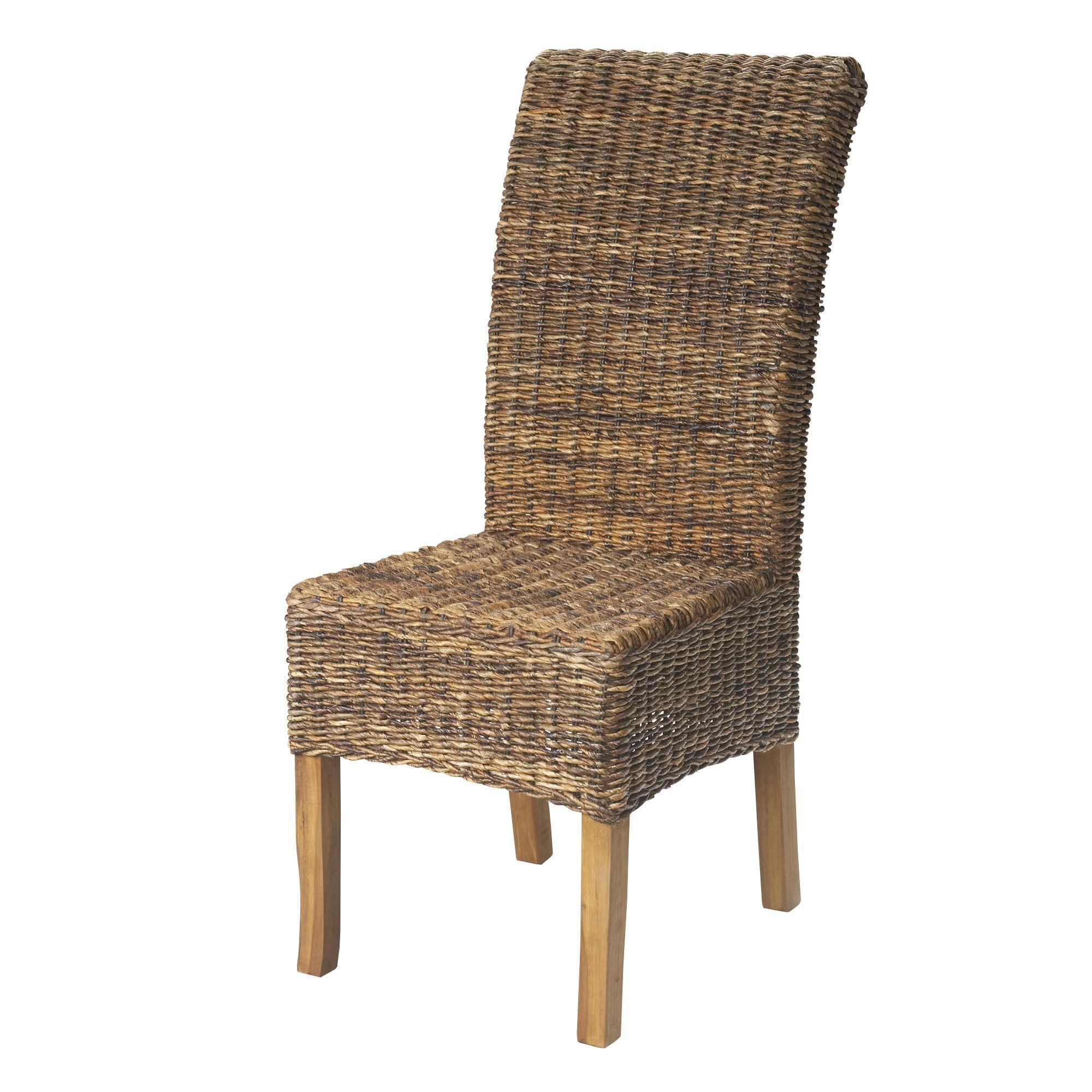 Chaise en abaca naturel naturel samourai chaises - Alinea chaise salle a manger ...