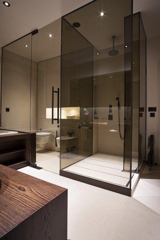 Smoked Glass Shower