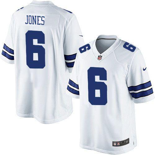 Nike Limited Chris Jones White Men S Jersey Dallas Cowboys 6 Nfl Road Dallas Cowboys Jersey Nfl Jerseys Dallas Cowboys