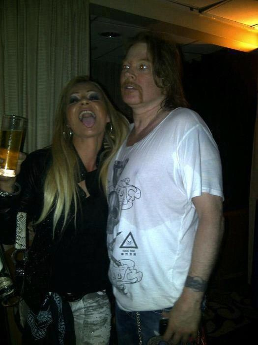 Axl Rose and fan