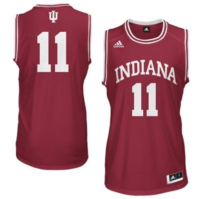 buy online 783a4 97827 adidas Indiana Hoosiers Youth #11 Replica Basketball Jersey ...