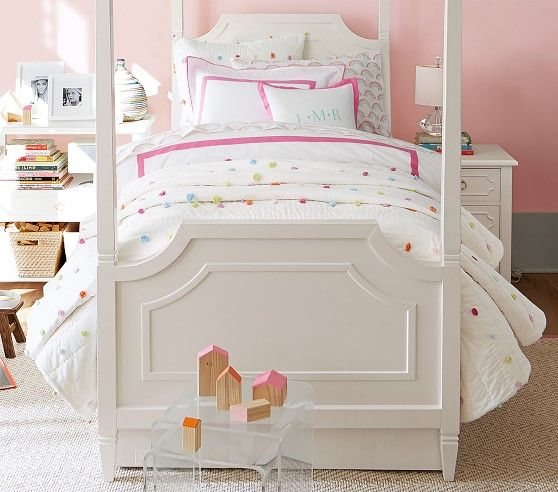Bright Pom Pom Quilt Pink Bedroom Decor Kid Room Decor Kids Bedroom