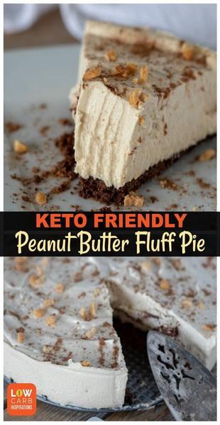 Keto Peanut Butter Pie Recipe | Delicious Recipes #keto #ketodessert