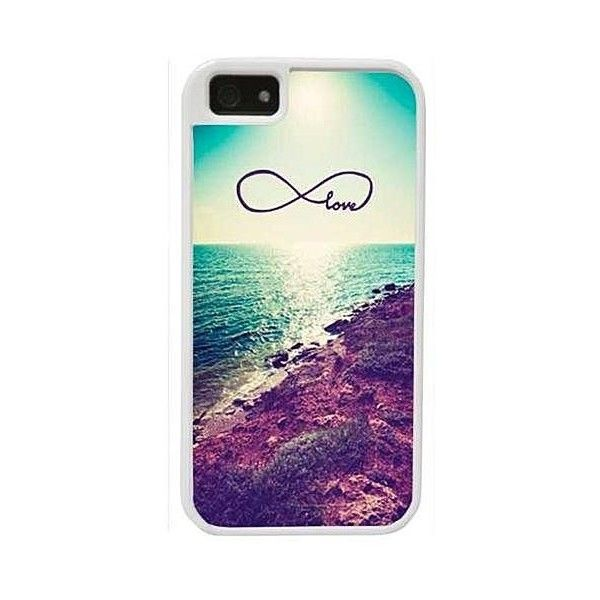 CellPowerCasesTM Costal Love Infinity - Protective 2 Layer iPhone 5... ($13) ❤ liked on Polyvore