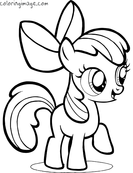 my little pony coloring page apple bloom my little pony party