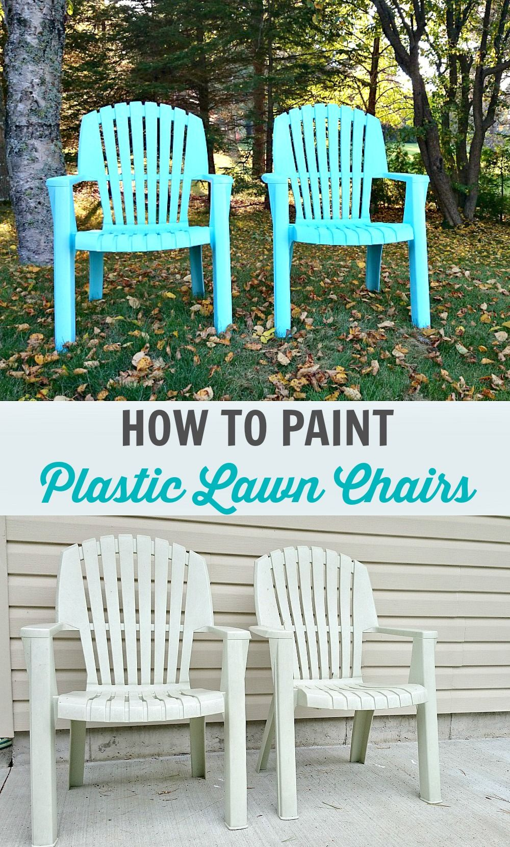 How to Spray Paint Plastic Lawn Chairs // Tips + Tricks and What Paint to  Use // by @danslelakehouse - How To Spray Paint Plastic Lawn Chairs Spray Painting Plastic