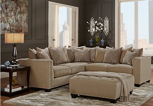 Cindy Crawford Home Sidney Road Taupe 2 Pc Sectional