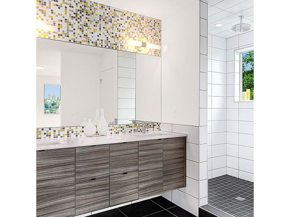 Brio Blend Glass Mosaic Tile in City Sunshine decor ideas