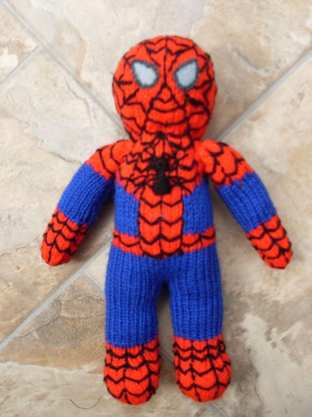 Three Superhero Toys to Knit in DK Yarn Fun Superheroes Toy Knitting Pattern Knitting Pattern Superheroes in DK Yarn