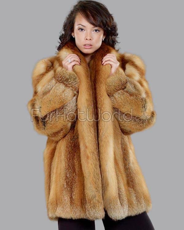 972fea3d1 Women's Josephine Red Fox Fur Stroller Coat | red fox