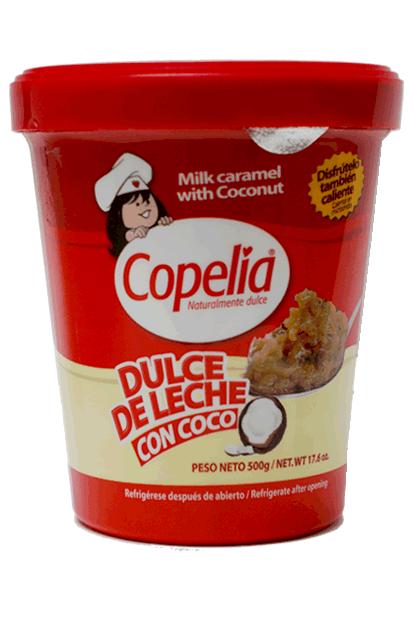 Copelia dulce de leche con coco, tarro de 250, alimentos copelia, copelia