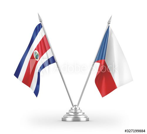 Czech and Costa Rica table flags isolated on white 3D rendering , #Aff, #Rica, #table, #Czech, #Costa, #white #Ad