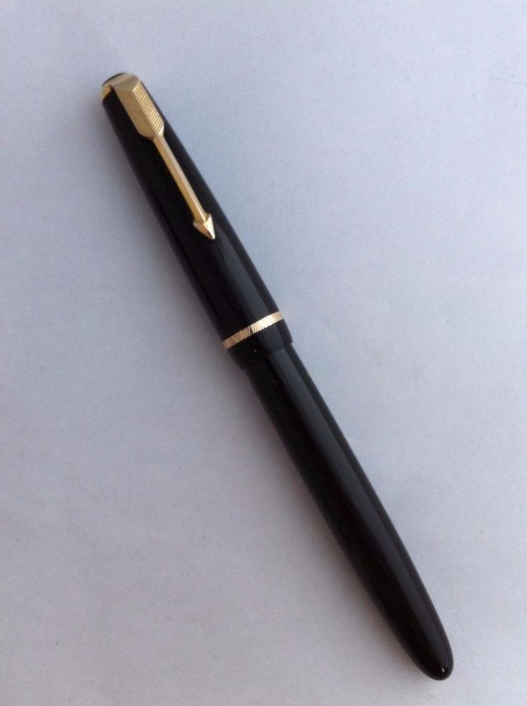 Made in UK Parker Jotter Ballpoint Pen 14k Gold Plated Diamond