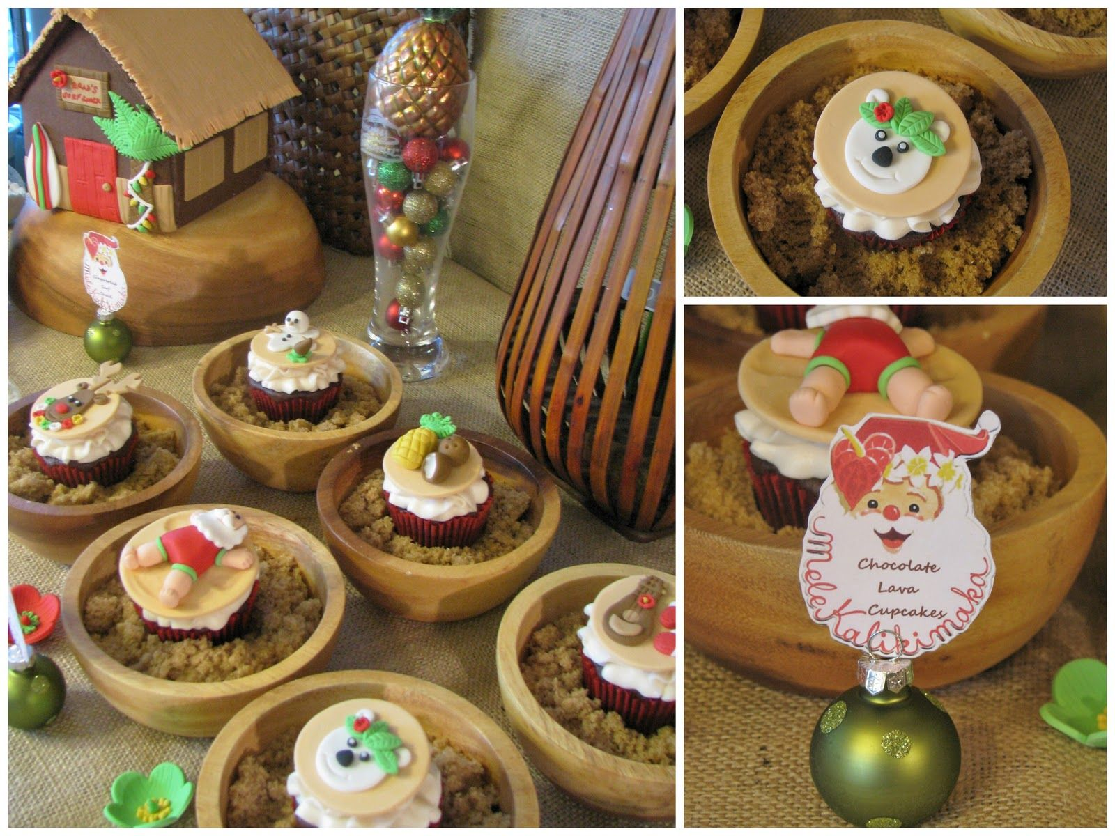 Tropical Christmas Party Ideas Part - 43: A Tropical Christmas Hawaiian Party, Brown Sugar For Sand, Fondant Surf  Boards, Melting Snow Men, Tiki Hut Gingerbread House U0026 More Ideas!