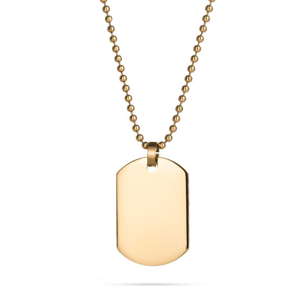 Engravable gold plated small dog tag dog tag necklace 18k gold 18k gold plated small dog tag eves addiction aloadofball Choice Image