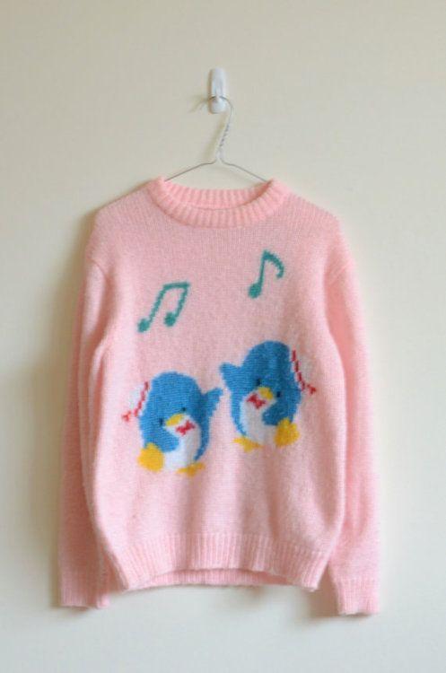7ec44e6d4dda Vintage タキシードサム Sweater !!! Tuxedo Sam!! I love you