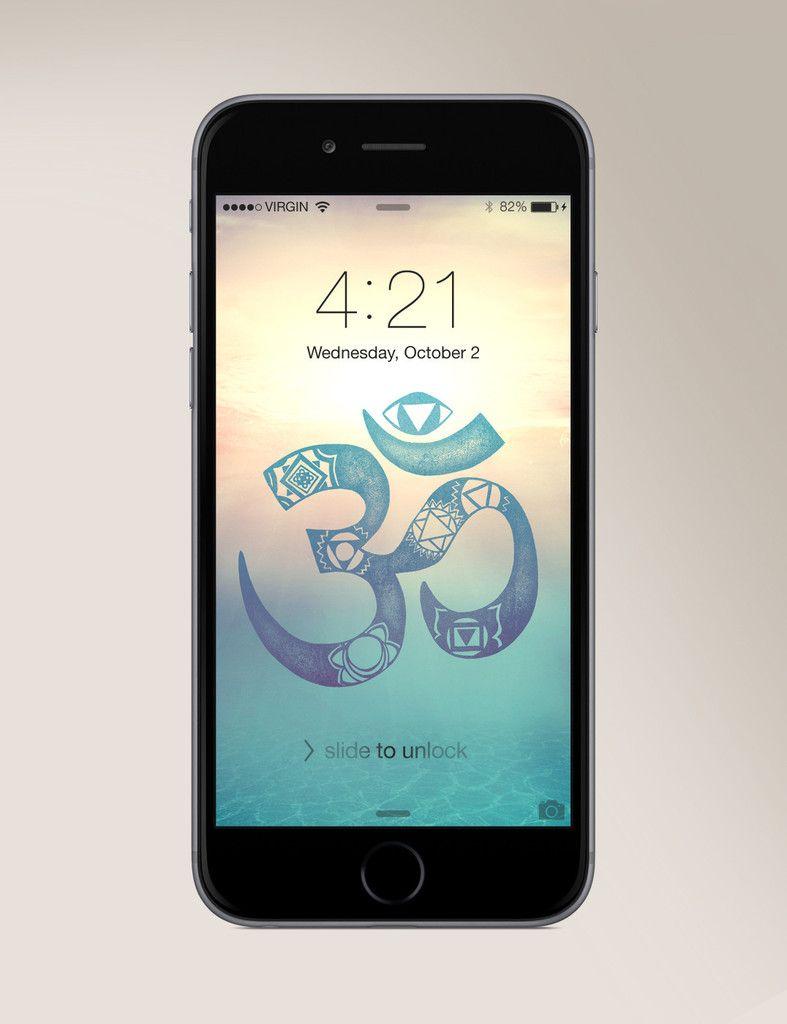 Wallpaper iphone yoga - Free Chakra Om Wallpaper For Any Smartphone Www Sivanaspirit Com