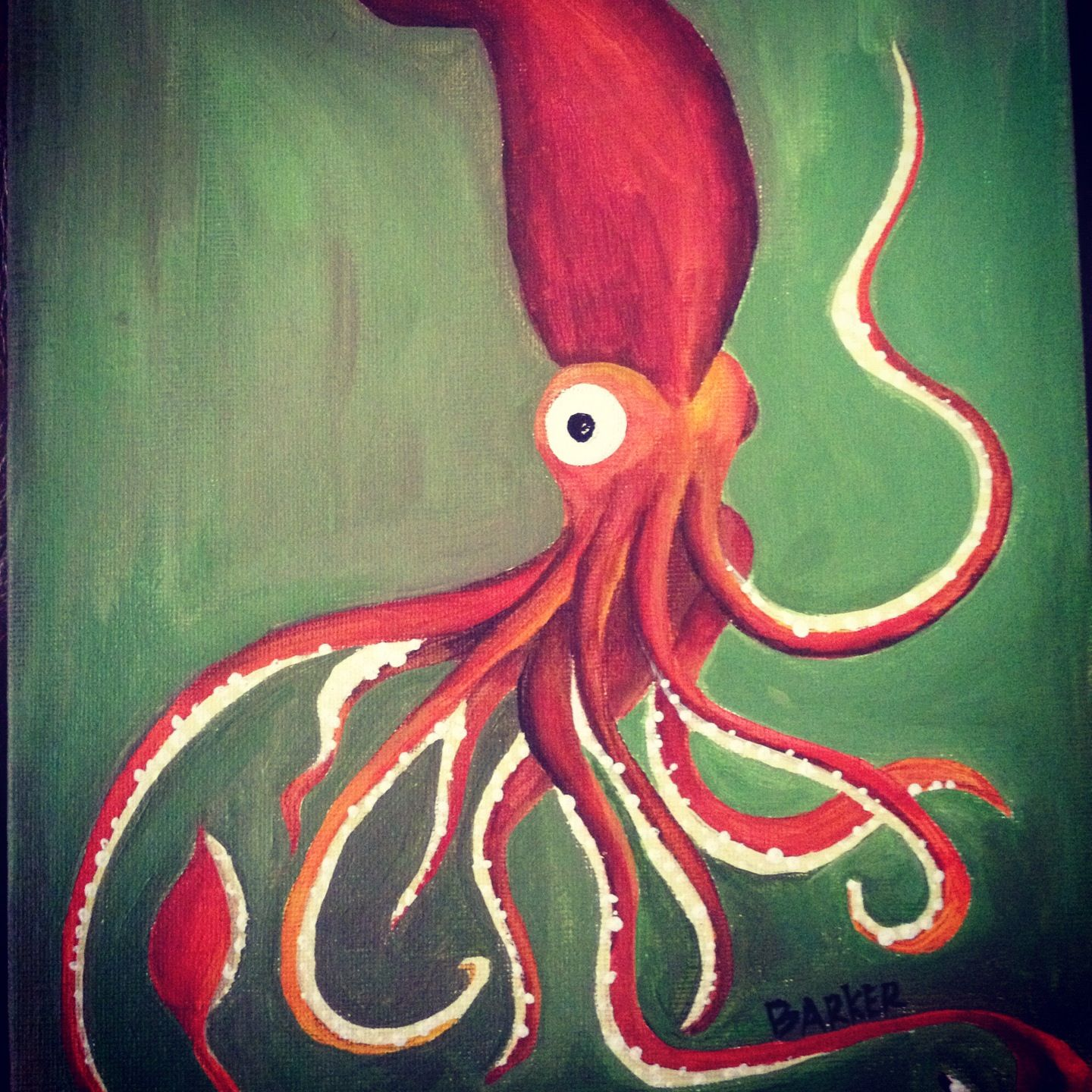 Acrylic Squid Painting | Artsy Fartsy | Pinterest ...