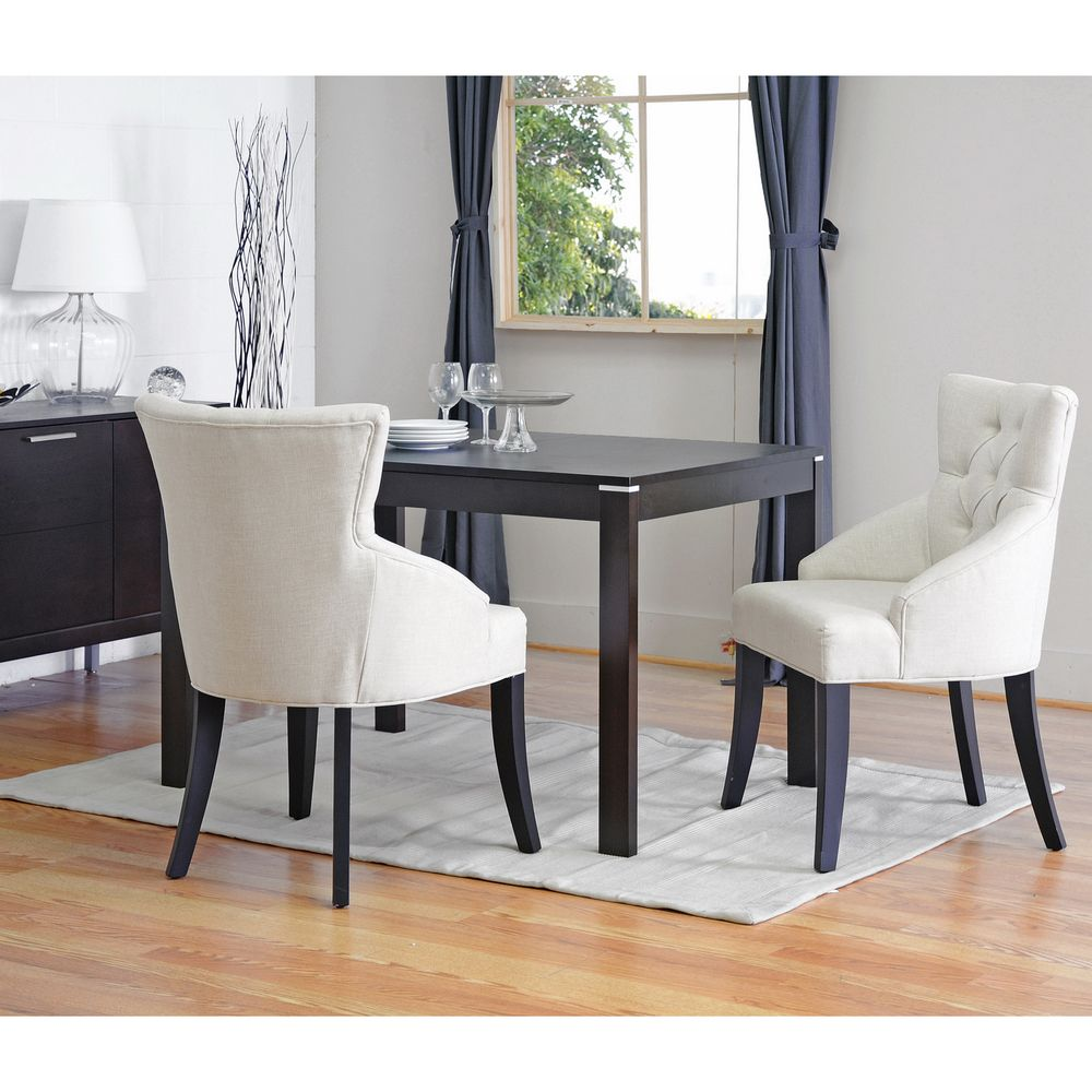 Baxton Studio Halifax Light Beige Dining Chair Set Of 2 Fabric SetDining TableUpholstered