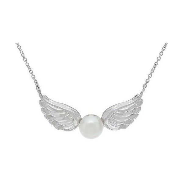 Honora Cultured Pearl 8.0mm Angel Wing Sterling Necklace ($58) ❤ liked on Polyvore featuring jewelry, necklaces, honora jewelry, fresh water pearl necklace, freshwater cultured pearl necklace, cultured pearl jewelry and white freshwater pearl necklace