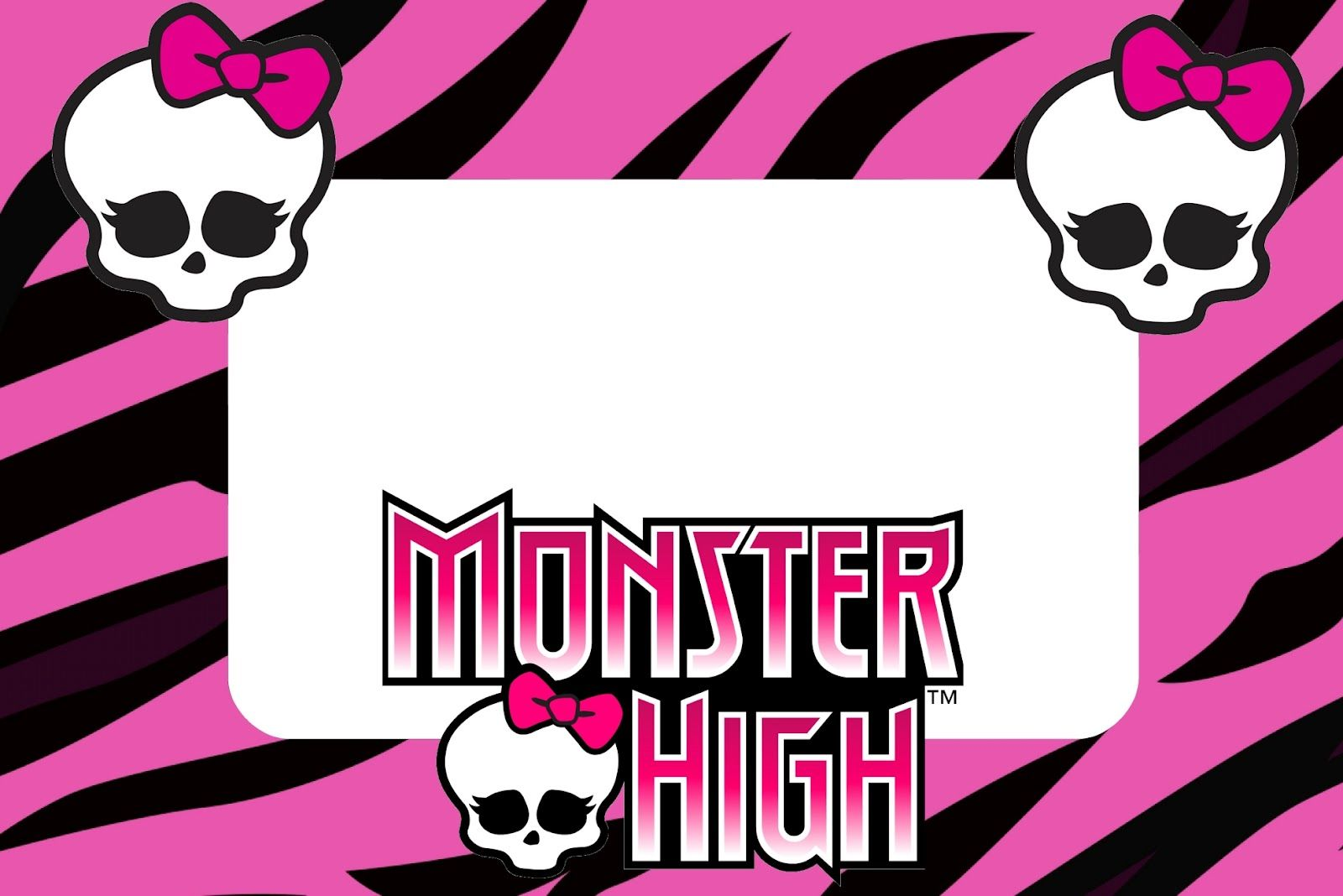 Monster High: Free Printable Party Invitations.   imprimir ...
