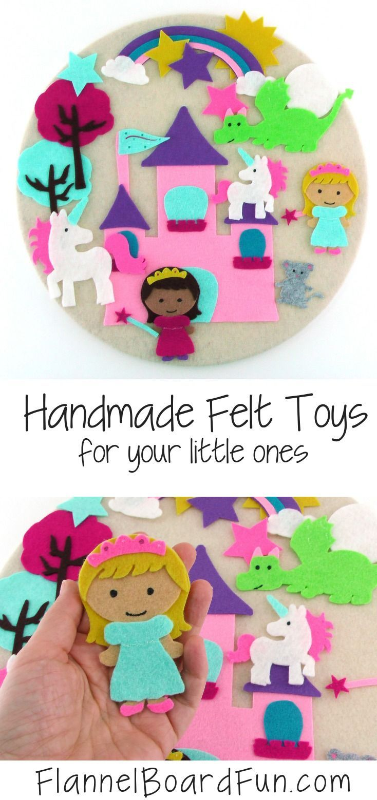 Felt Board Story Princess and Unicorn Quiet Time Toy for Little Girl Preschooler and Kindergartners, Princess Gift from Grandma or Aunt #creativeartsfor2-3yearolds