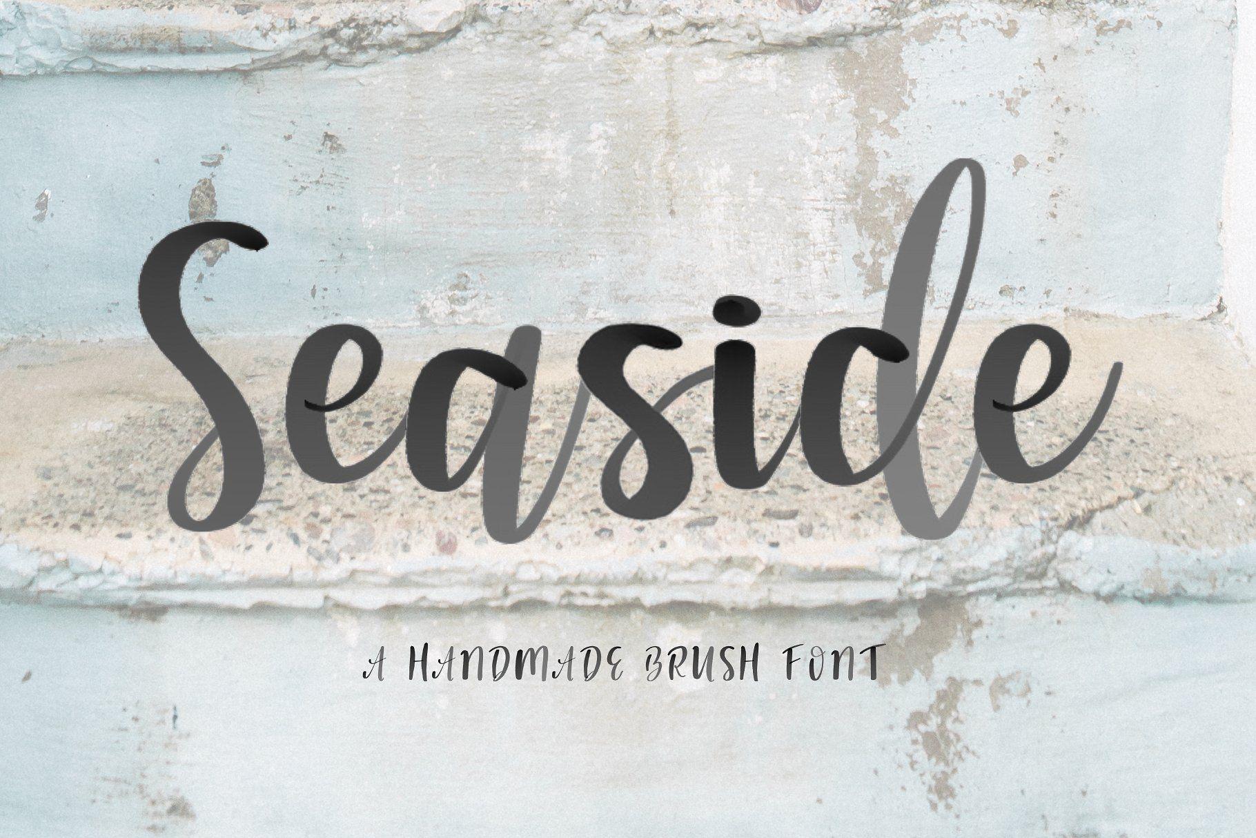 Seaside Font Watercolor Svg Writing Brush Watercolor Hope