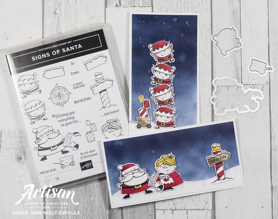 Vandaag 2 sneak peek kaartjes met de stempelset Signs of Santa uit ...