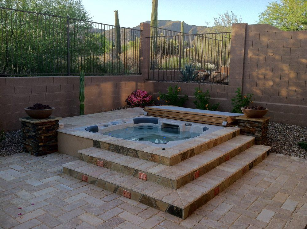 Above ground hot tub why are the popular backyard for Pool jacuzzi design