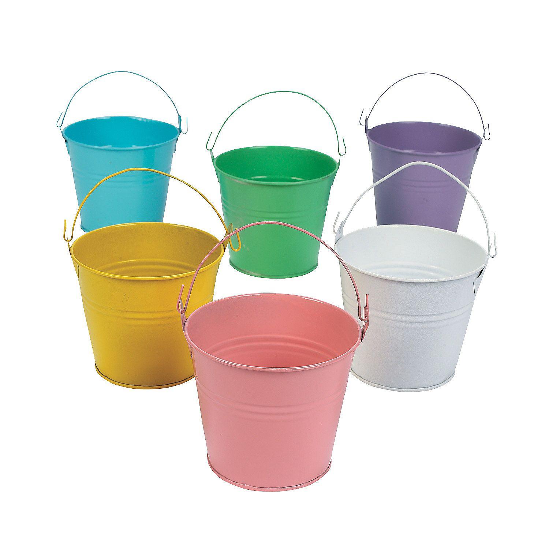 Mini Pastel Color Favor Pails Oriental Trading Tin Pails Oriental Trading Pool Party Supplies