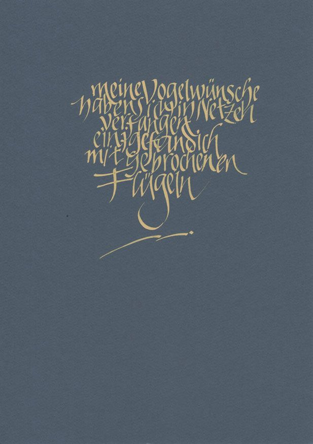 Poem from Maria Luise Altrichter / Calligraphy by Roland Stieger