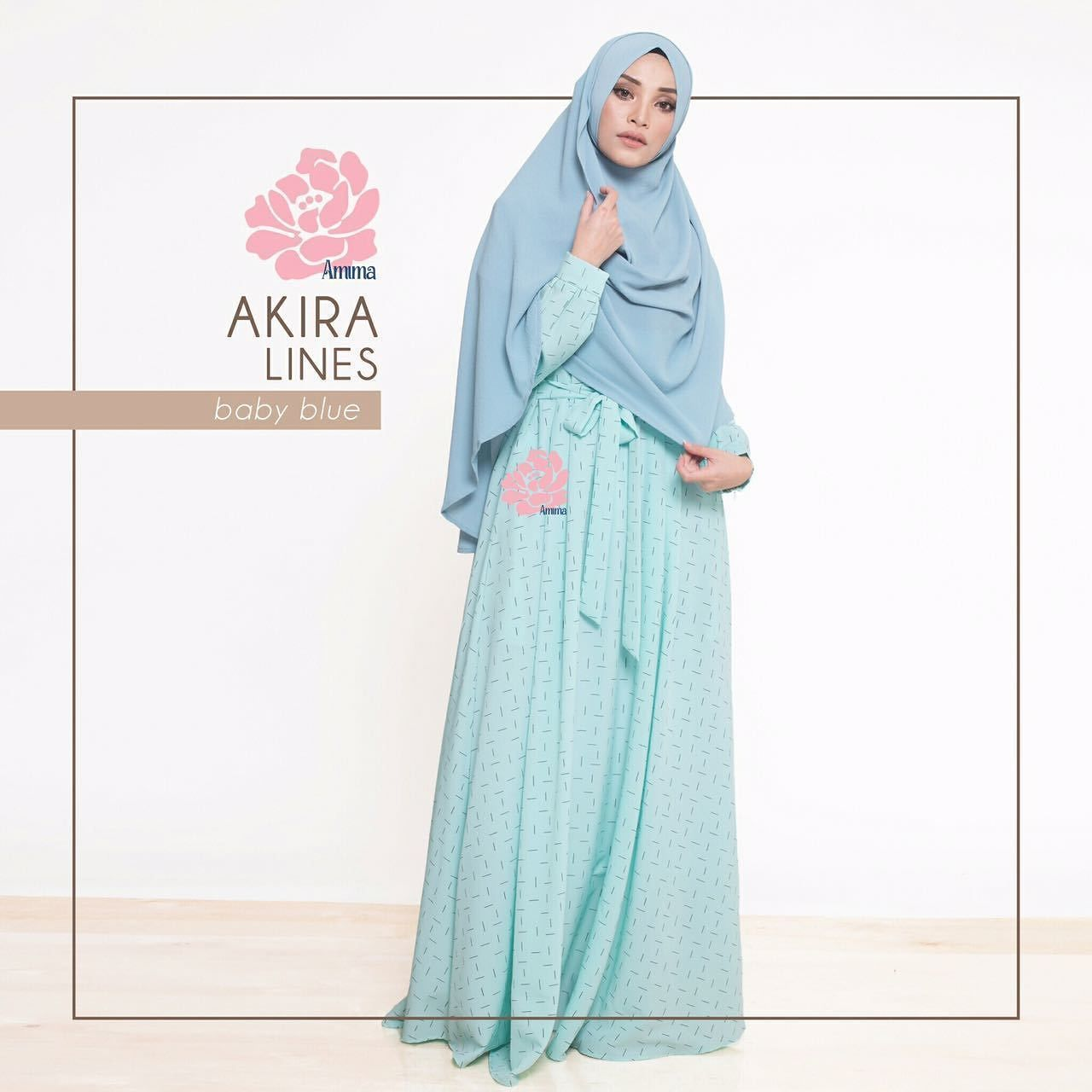 Gamis Amima Akira Dress Lines Baby Blue - baju muslim wanita baju muslimah  Untukmu yg cantik 43607924a7