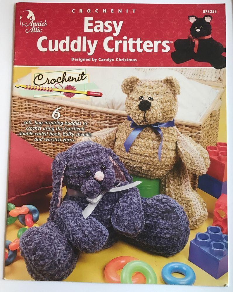 Easy Cuddly Critters Crochet Pattern 6 Animal Buddies Annies Attic ...