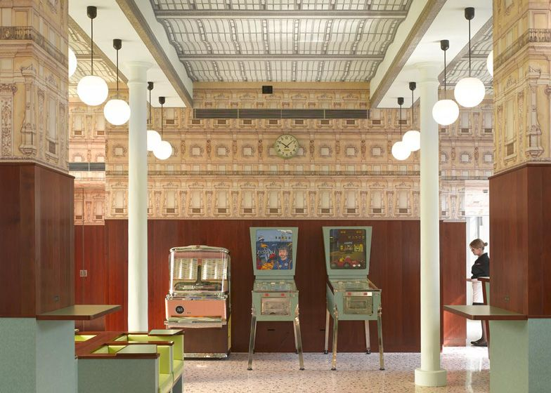 Wes Anderson Designed Bar Luce Takes Its Cues From Old Milanese Landmarks  And Cafes   Retailand Restaurant Design