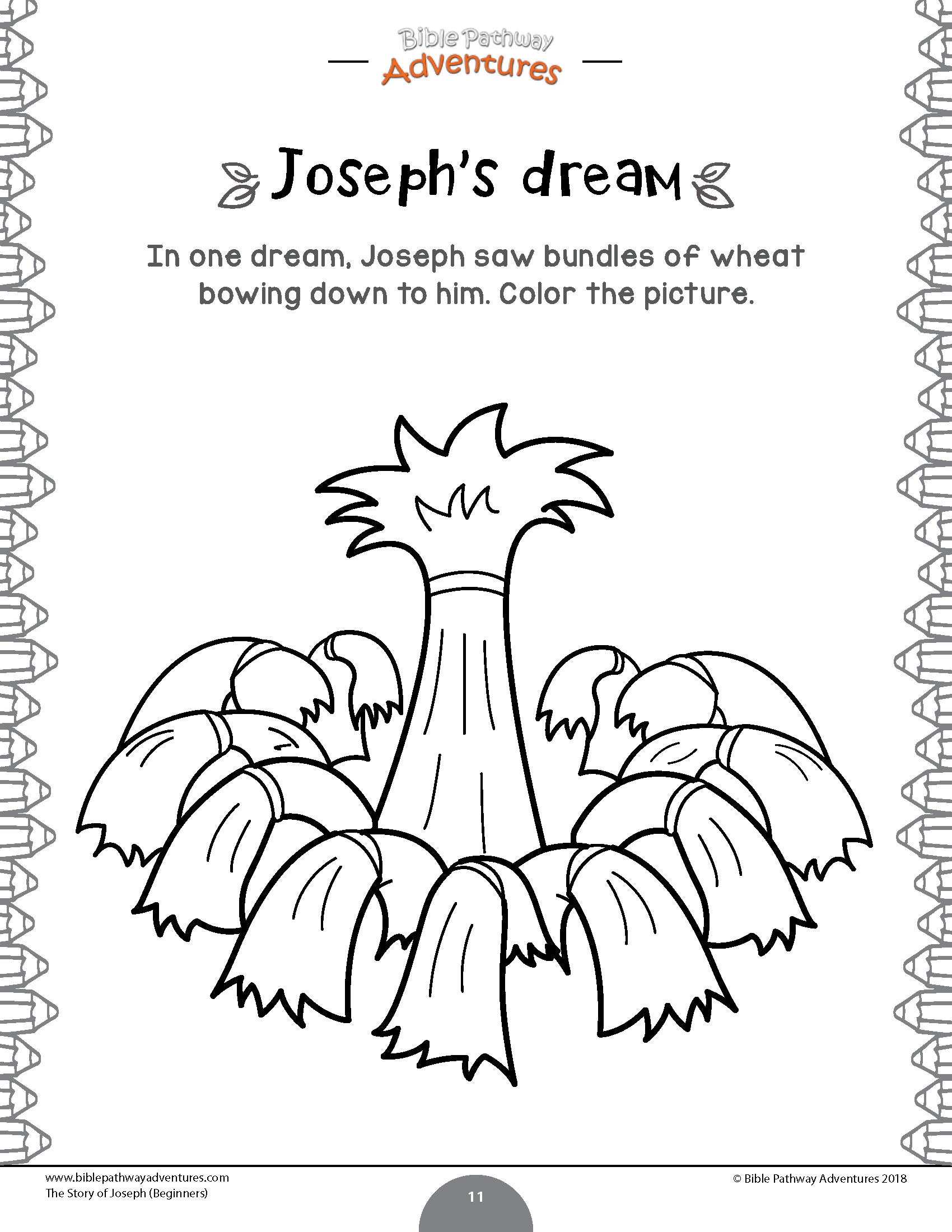 Joseph Bible Activity Book For Kids Ages 3 5