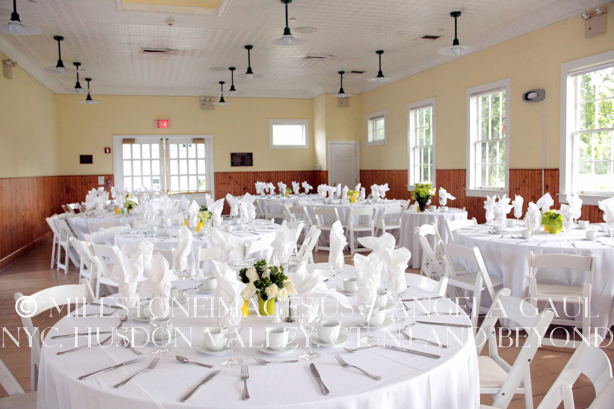 Reception Setup The Queens County Farm Museum All White Table Linens