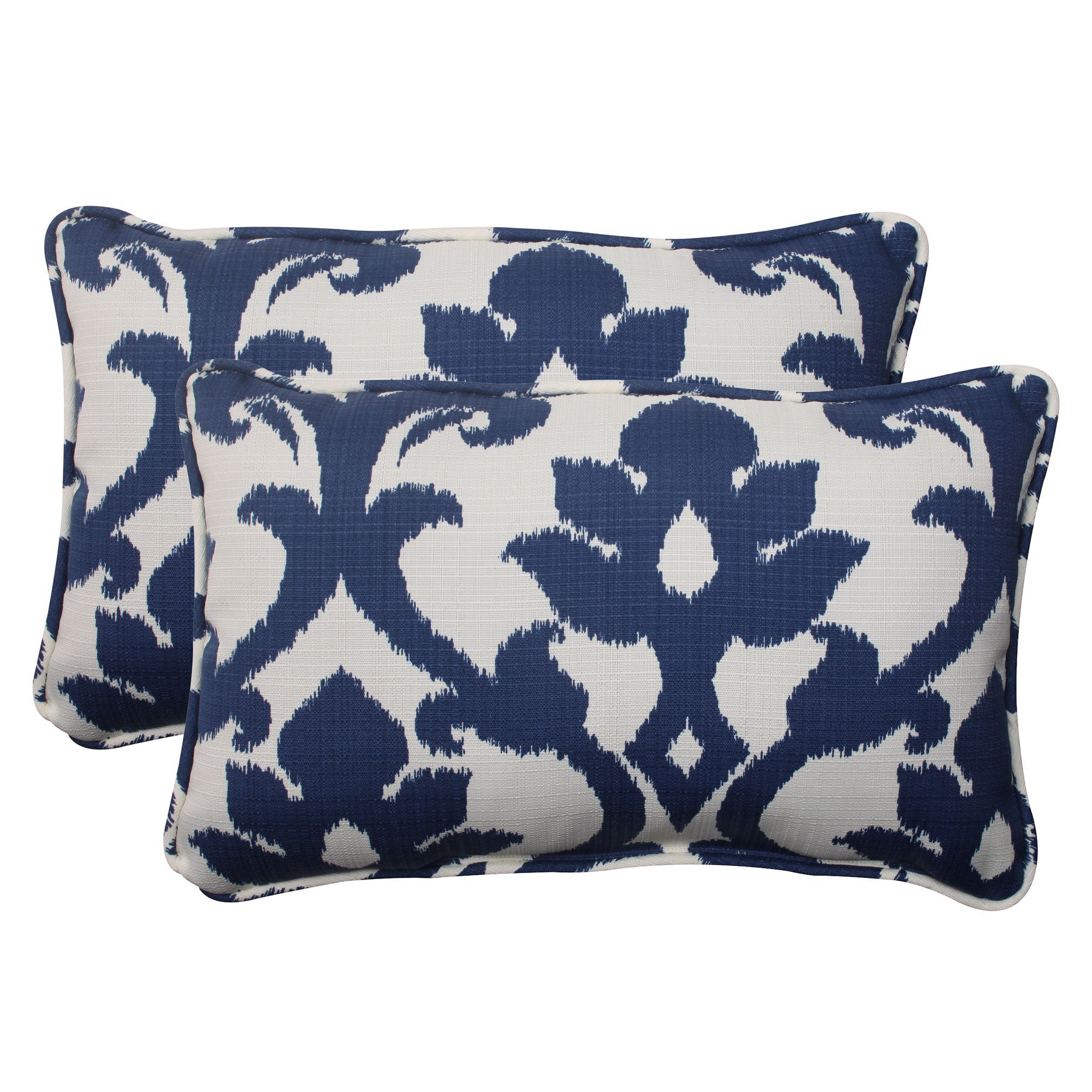 Pillow perfect navy outdoor throw pillows set of by pillow