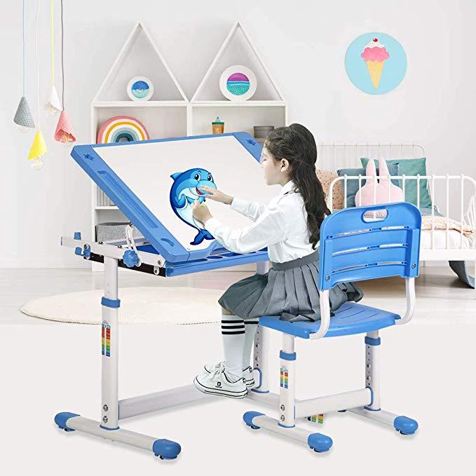 Children Desk and Chair Set, Kids Desk