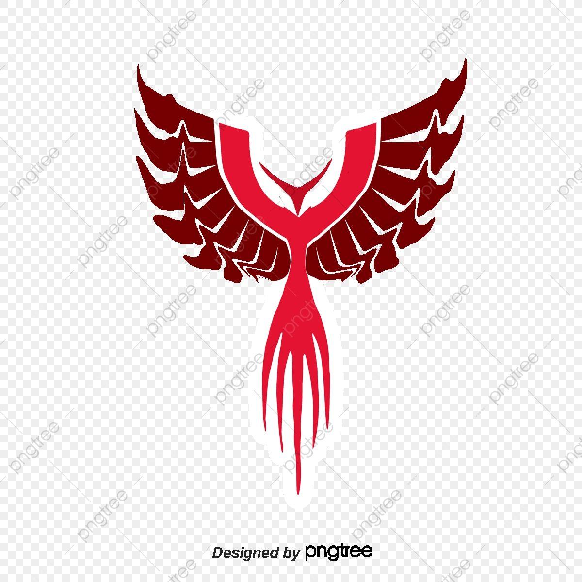 Red Phoenix Contour Phoenix Vector Decoration Vector Png Transparent Clipart Image And Psd File For Free Download Phoenix Vector Texture Vector Vector