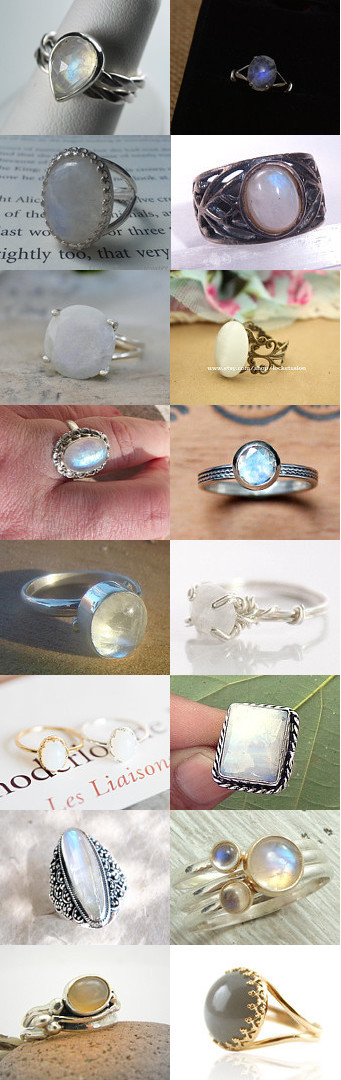 Moonstone Ring 970 Elegance by Erin Ewer on Etsy--Pinned with TreasuryPin.com