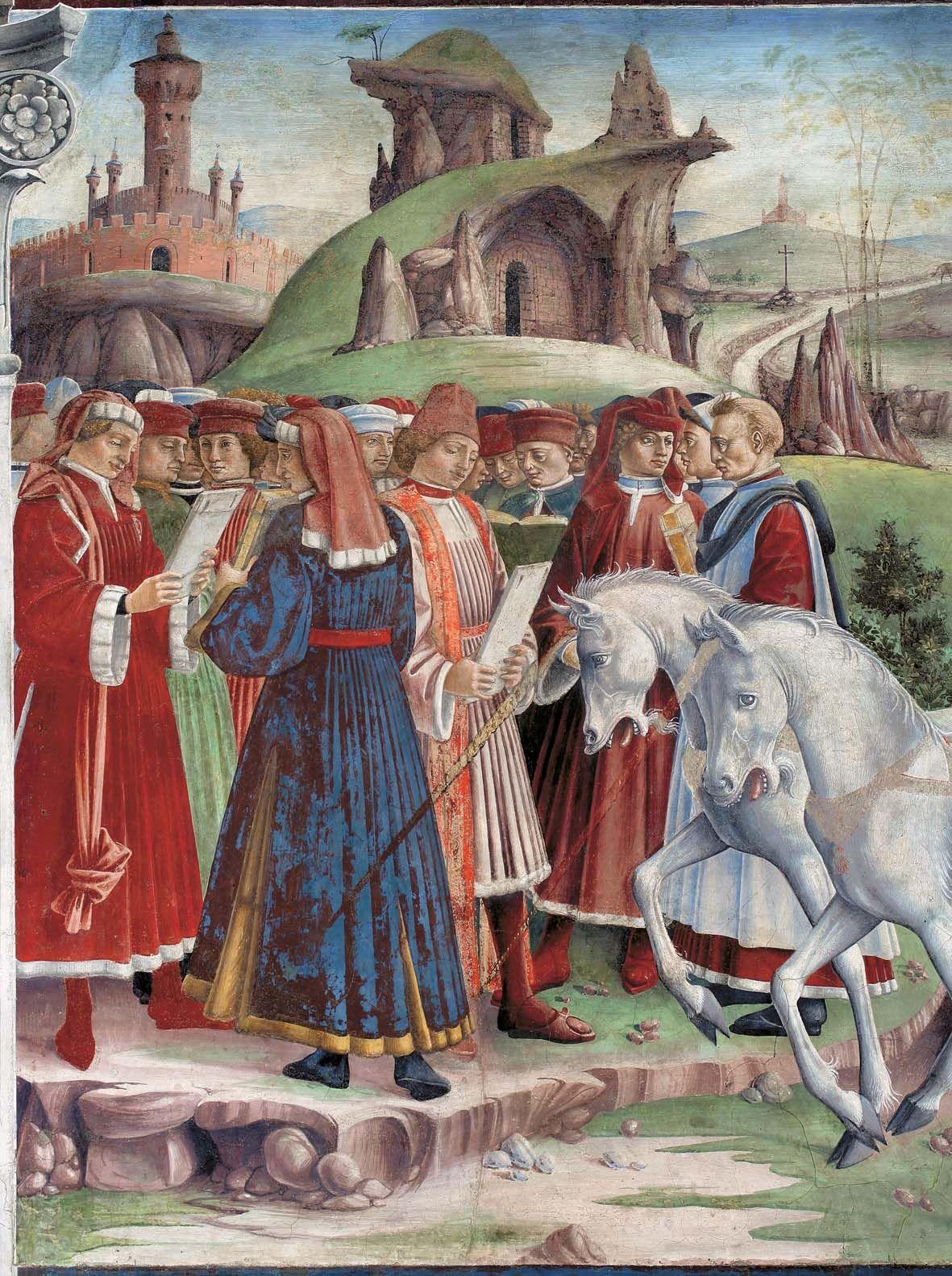 Francesco del cossa allegoria di marzo trionfo di for Pittura salone