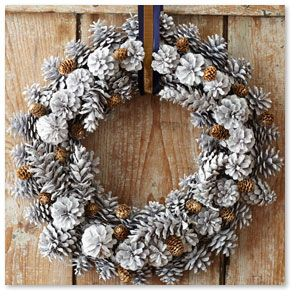 Painted Pine Cone Wreath...RED? Stonewall Kitchen   Specialty Foods, Gifts