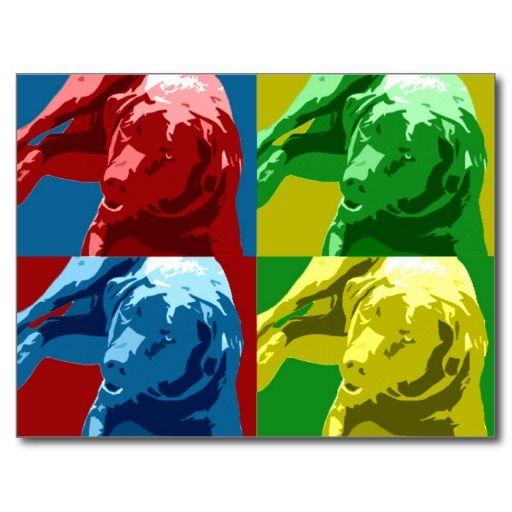 Labrador pop art, Warhol effect! Postcard