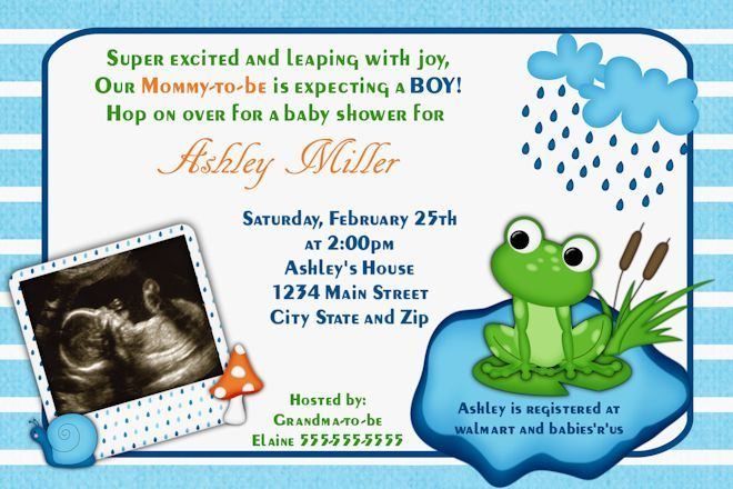 Baby Shower Invitations Frog Baby Shower Invitations Baby